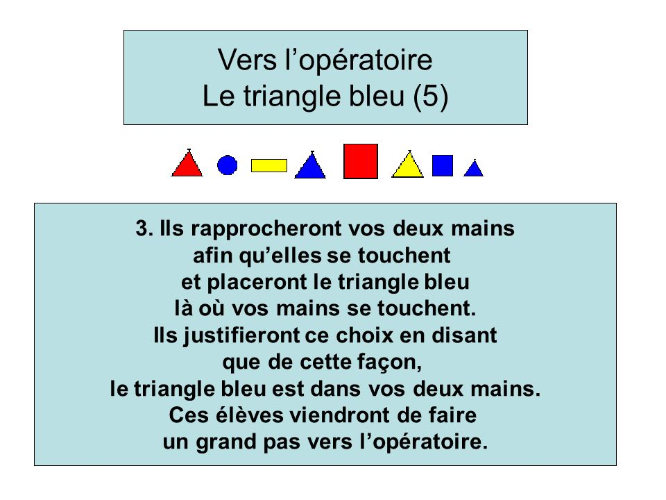 3. They will join your hands together and place the blue triangles where your hands meet.