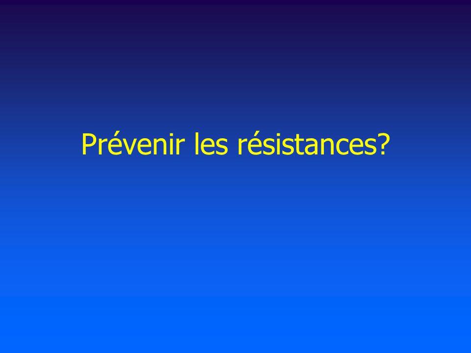 Prévenir les résistances?