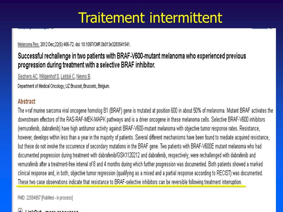 Traitement intermittent