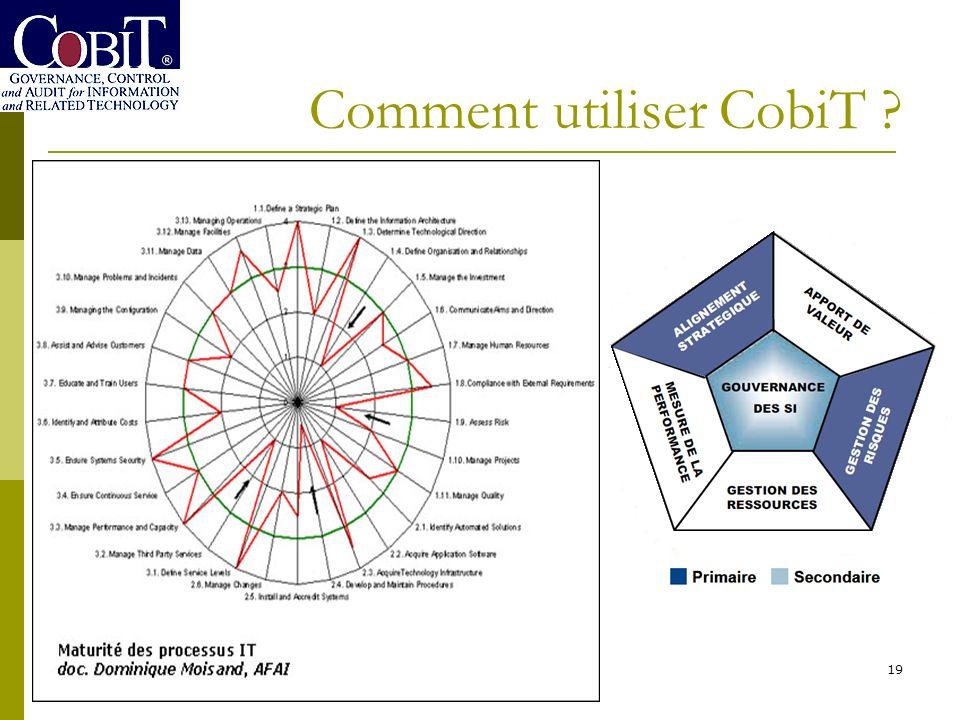 Comment utiliser CobiT ? 19