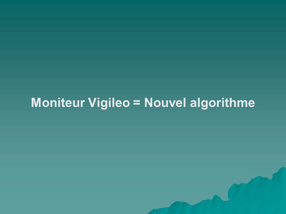 Moniteur Vigileo = Nouvel algorithme