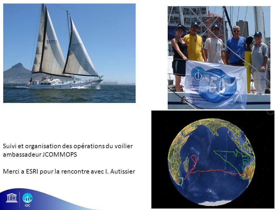 23 Suivi et organisation des opérations du voilier ambassadeur JCOMMOPS Merci a ESRI pour la rencontre avec I. Autissier