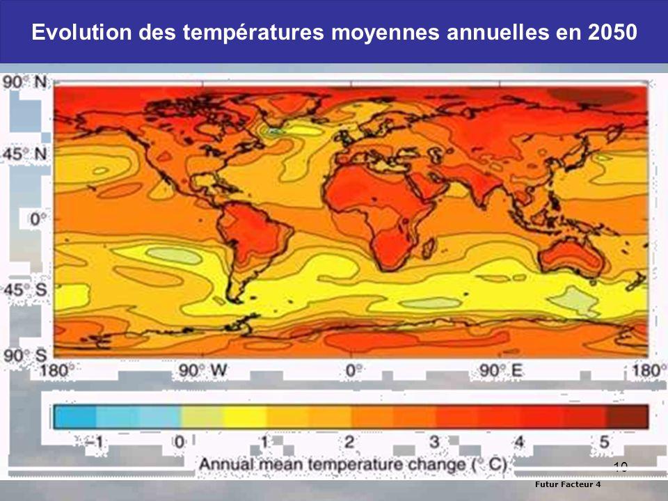 10 Evolution des températures moyennes annuelles en 2050