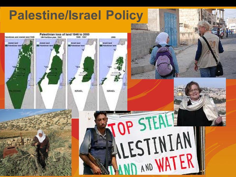 Palestine/Israel Policy