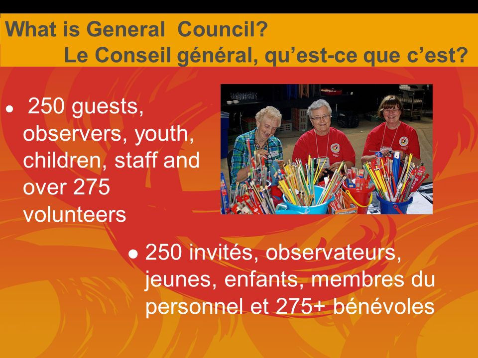 What is General Council.Quest-ce que cest, le Conseil general.