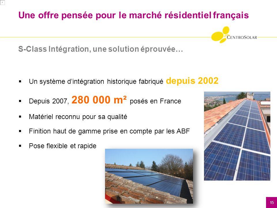 16 Une offre pensée pour le marché résidentiel français S-Class Intégration, une solution éprouvée… Un système complet comprenant la fixation et la reprise détanchéité