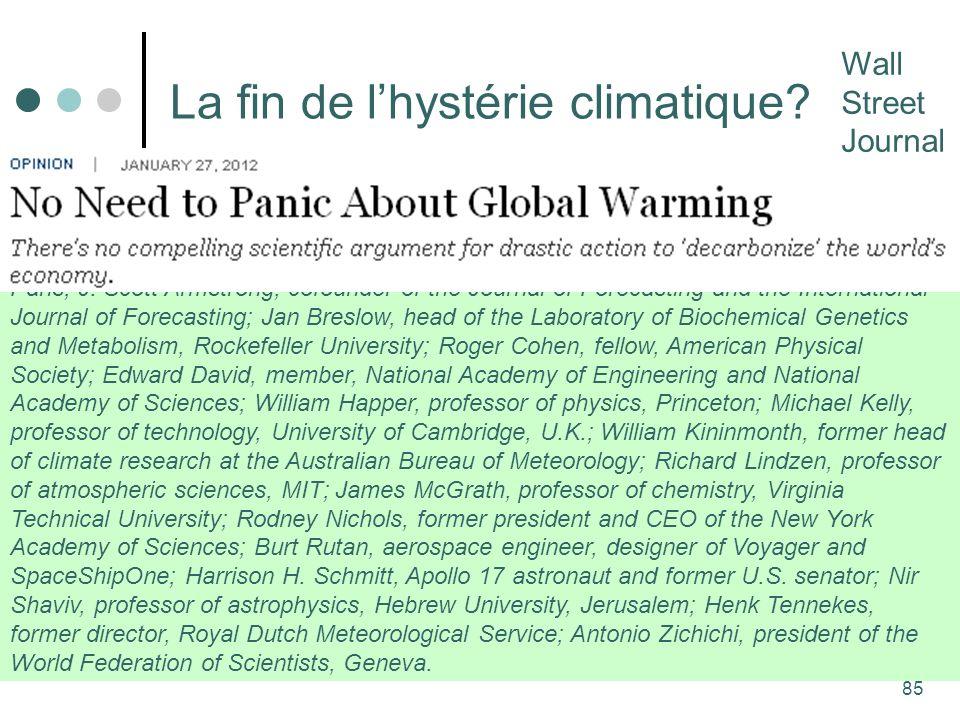 85 La fin de lhystérie climatique.