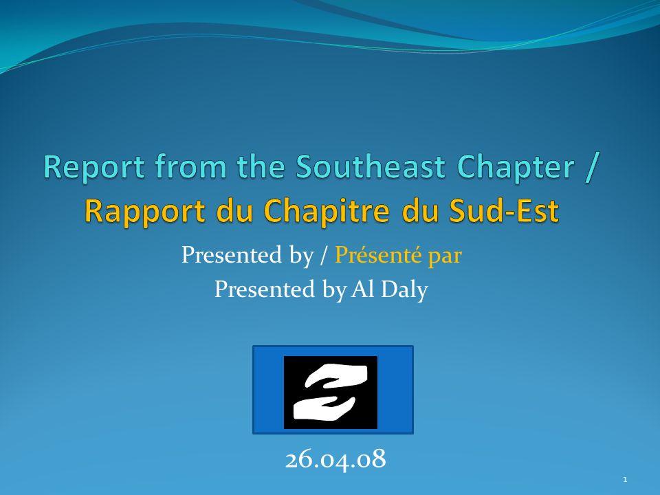 The Southeast CFSJ Chapter Le Chapitre du Sud-Est du FCJS We began to form this Chapter in 2004 uder the leadership of Ysabel Provencher Nous avons commencé de Chapitre en 2004 sous la direction de Ysabel Provencher 2