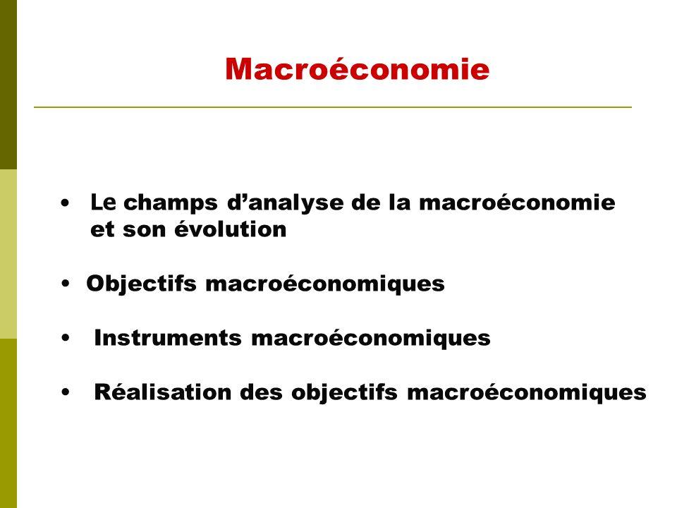 M Acroéconomie Notions et objectifs macroéconomiques