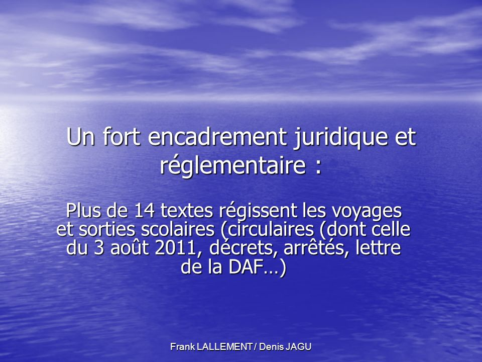 Frank LALLEMENT / Denis JAGU Les Régies.