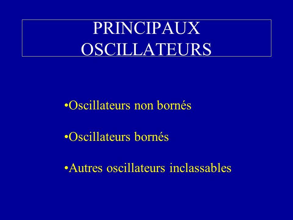 PRINCIPAUX OSCILLATEURS Oscillateurs non bornés Oscillateurs bornés Autres oscillateurs inclassables
