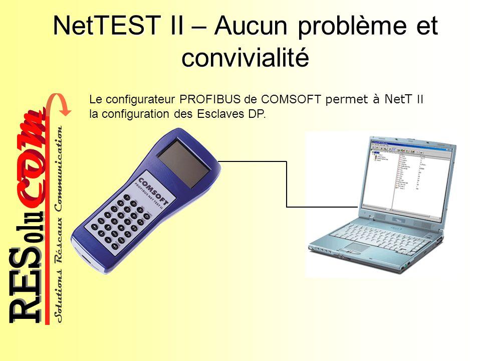 Solutions Réseaux Communication COM olu RES NetTEST II – Aucun problème et convivialité Le configurateur PROFIBUS de COMSOFT permet à NetT II la confi