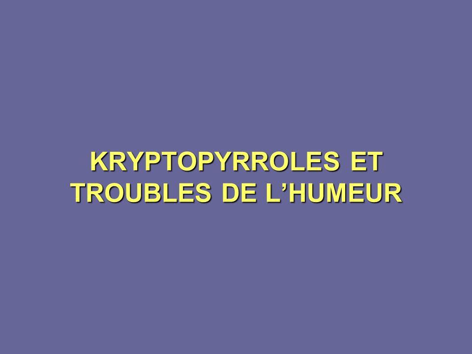 KRYPTOPYRROLES ET TROUBLES DE LHUMEUR