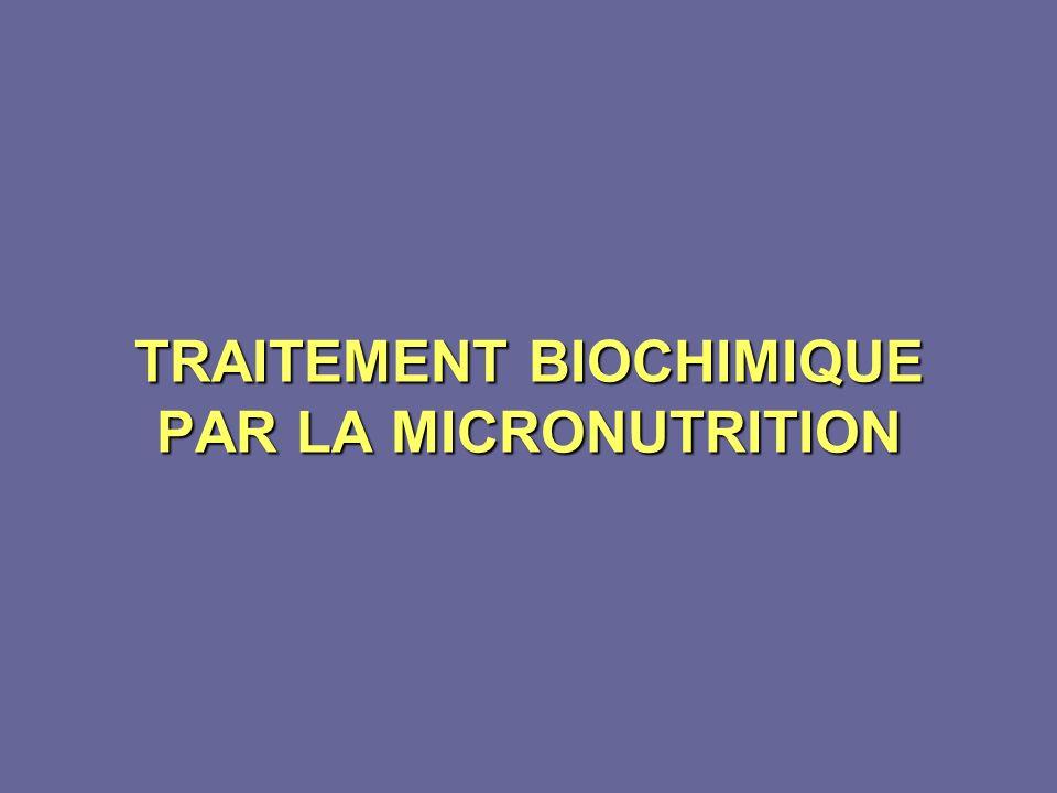 TRAITEMENT BIOCHIMIQUE PAR LA MICRONUTRITION