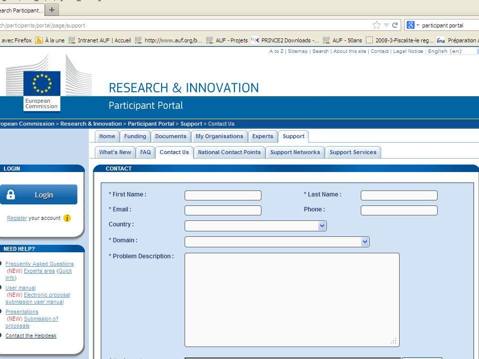 Léligibilité Géographique, Institutionnelle (Universités, centre de recherche, PME >< Multinationales), et Financière (Audit) La propriété intellectuelle