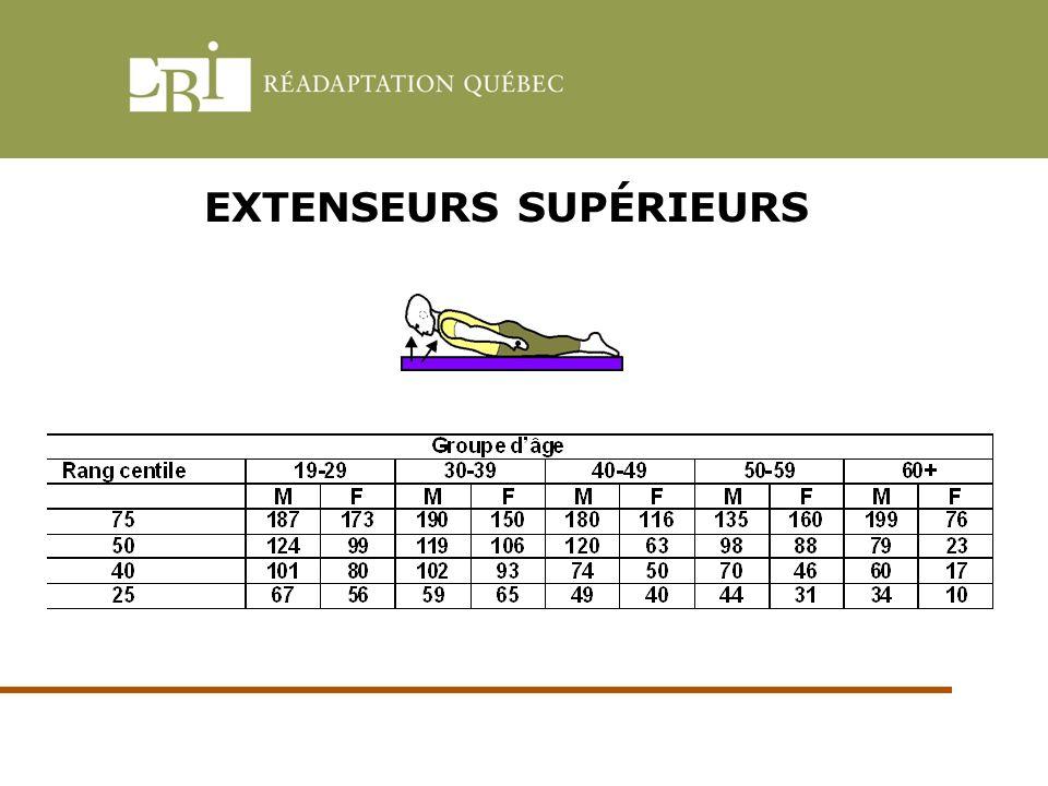 EXTENSEURS SUPÉRIEURS