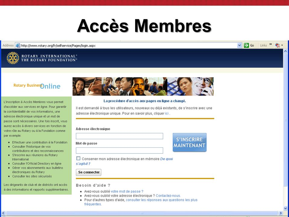 2009 District Assembly | 5 Member Access Accès ClubRunner