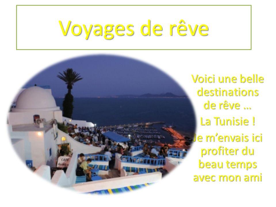 Voyages de rêve Voici une belle destinations de rêve … La Tunisie .