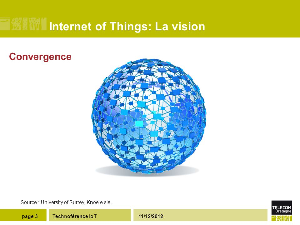 Internet of Things: La vision Technoférence IoT 11/12/2012page 4