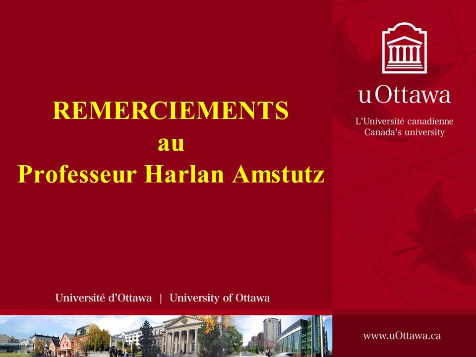 HÔPITAL DOTTAWA REMERCIEMENTS au Professeur Harlan Amstutz