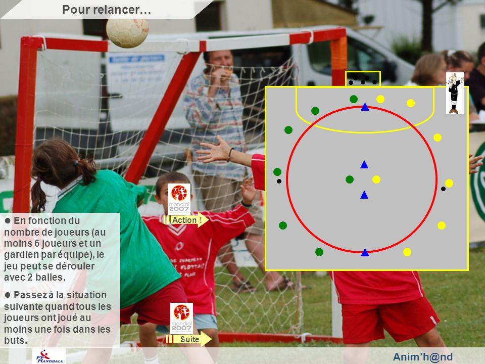 Animh@nd En fonction du nombre de joueurs (au moins 6 joueurs et un gardien par équipe), le jeu peut se dérouler avec 2 balles.
