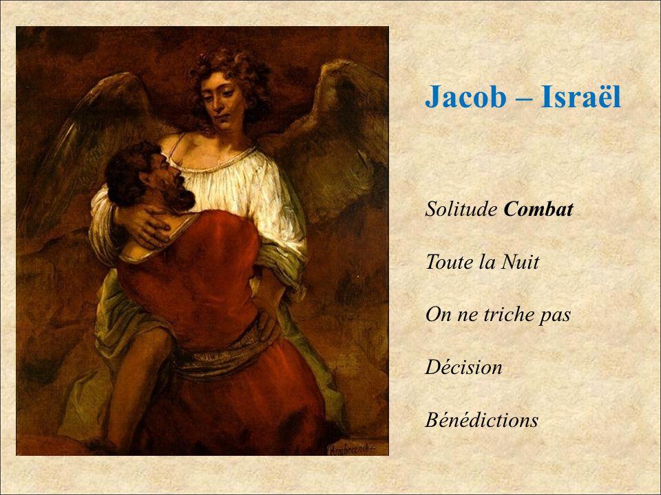 Jacob – Israël Solitude Combat Toute la Nuit On ne triche pas Décision Bénédictions
