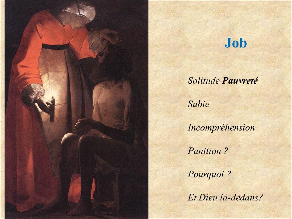 Job Solitude Pauvreté Subie Incompréhension Punition ? Pourquoi ? Et Dieu là-dedans?