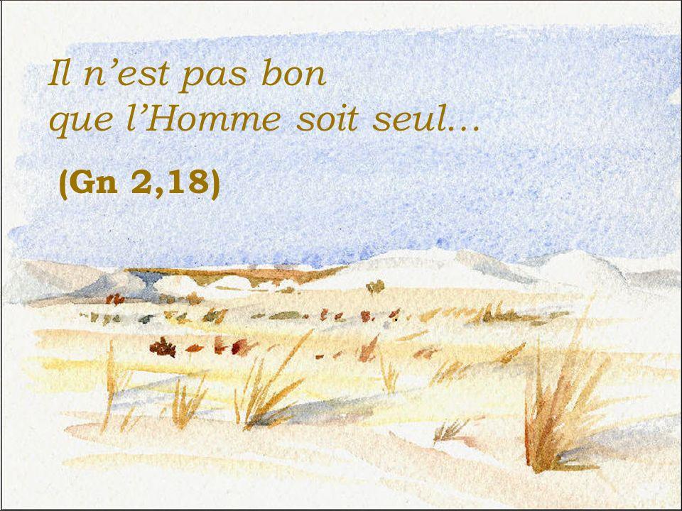 Il nest pas bon que lHomme soit seul… (Gn 2,18).