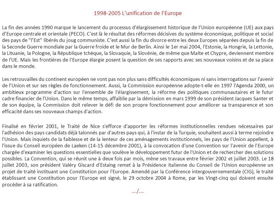 1969-1979 Crises et relance de la CEE A la fin des années soixante, la Communauté économique européenne (CEE) des Six connaît une situation délicate.