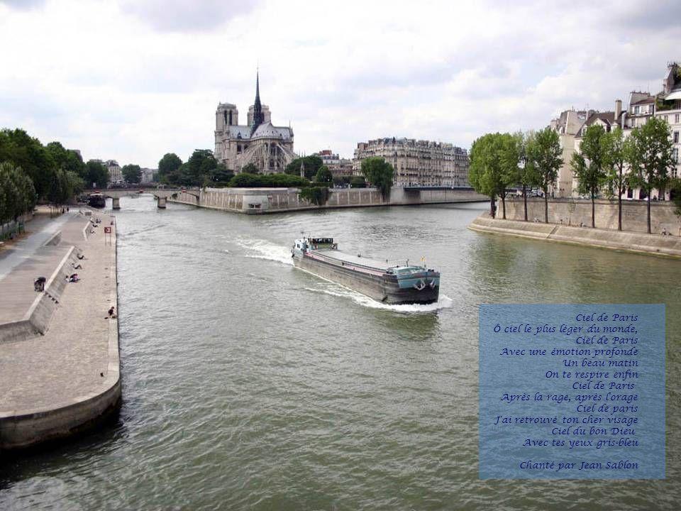 Paris Tu me manques terriblement Tu me manques passionnément Tu me manques, c est fascinant Paris, t es si belle encore Paris, tu changes de décor Paris, tu ressembles à personne Bernard Lavilliers