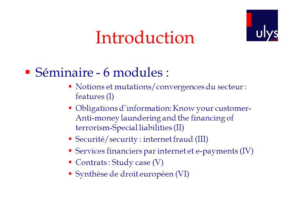 Module I Notions et mutations/convergences du secteur : features