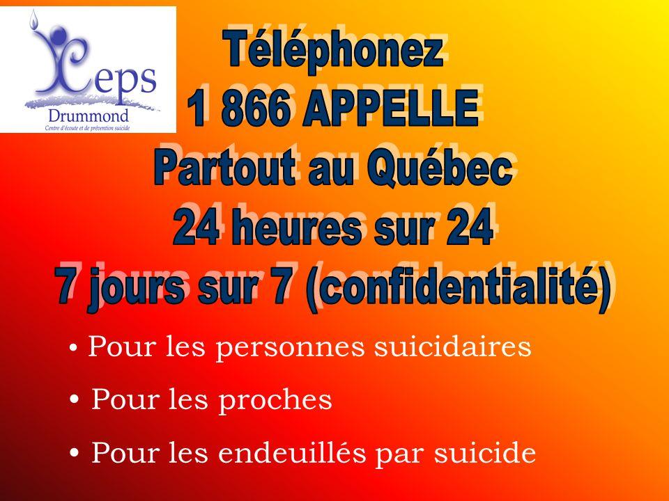 Pour les personnes suicidaires Pour les proches Pour les endeuillés par suicide