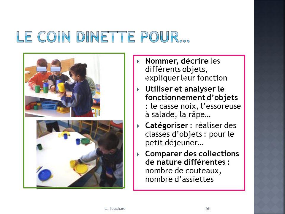 Nommer, décrire les différents objets, expliquer leur fonction Utiliser et analyser le fonctionnement dobjets : le casse noix, lessoreuse à salade, la