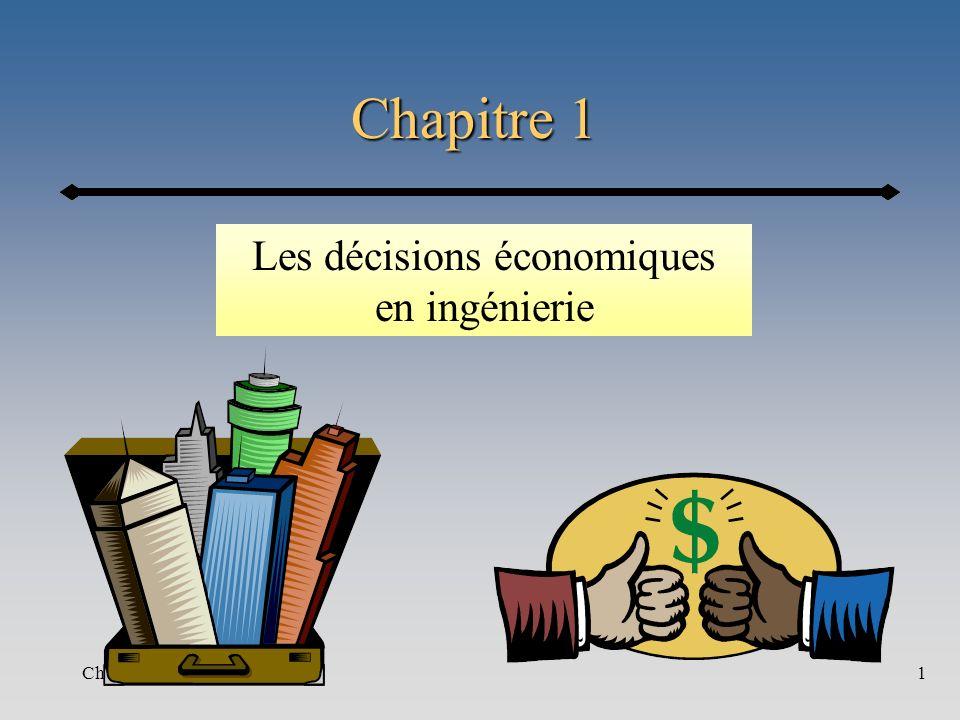 Chapitre 11 Les décisions économiques en ingénierie
