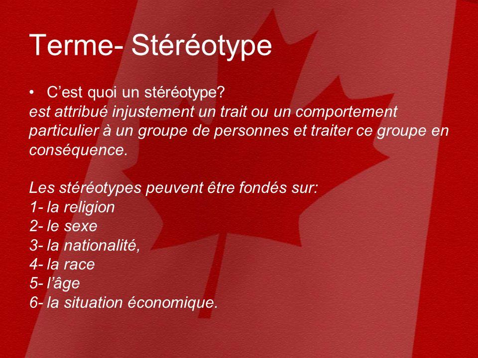 Terme- Stéréotype Cest quoi un stéréotype.