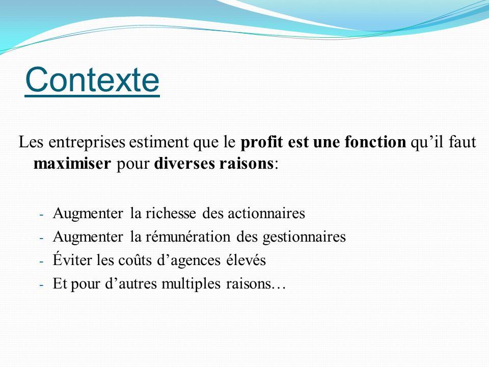 Croissance et performance Relation entre croissance et performance en 2 étapes: 1.