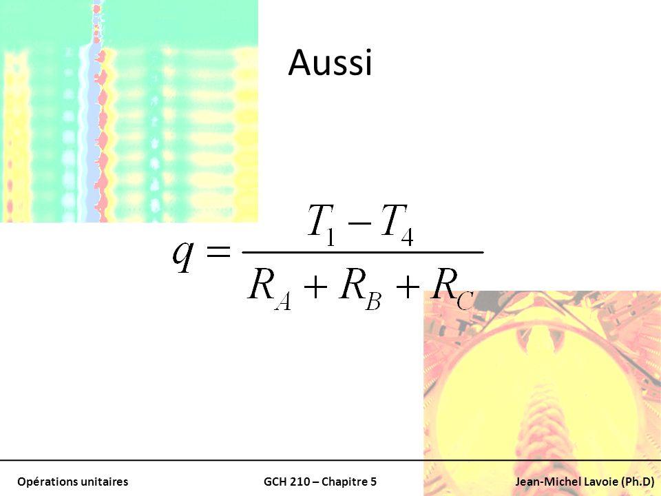 Opérations unitairesGCH 210 – Chapitre 5Jean-Michel Lavoie (Ph.D) Aussi