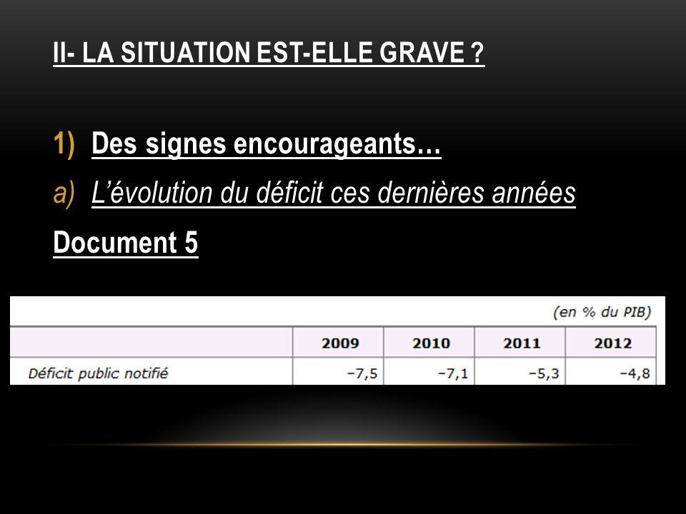 II- LA SITUATION EST-ELLE GRAVE .