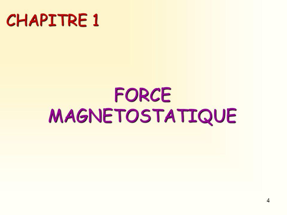 4 CHAPITRE 1 FORCE MAGNETOSTATIQUE
