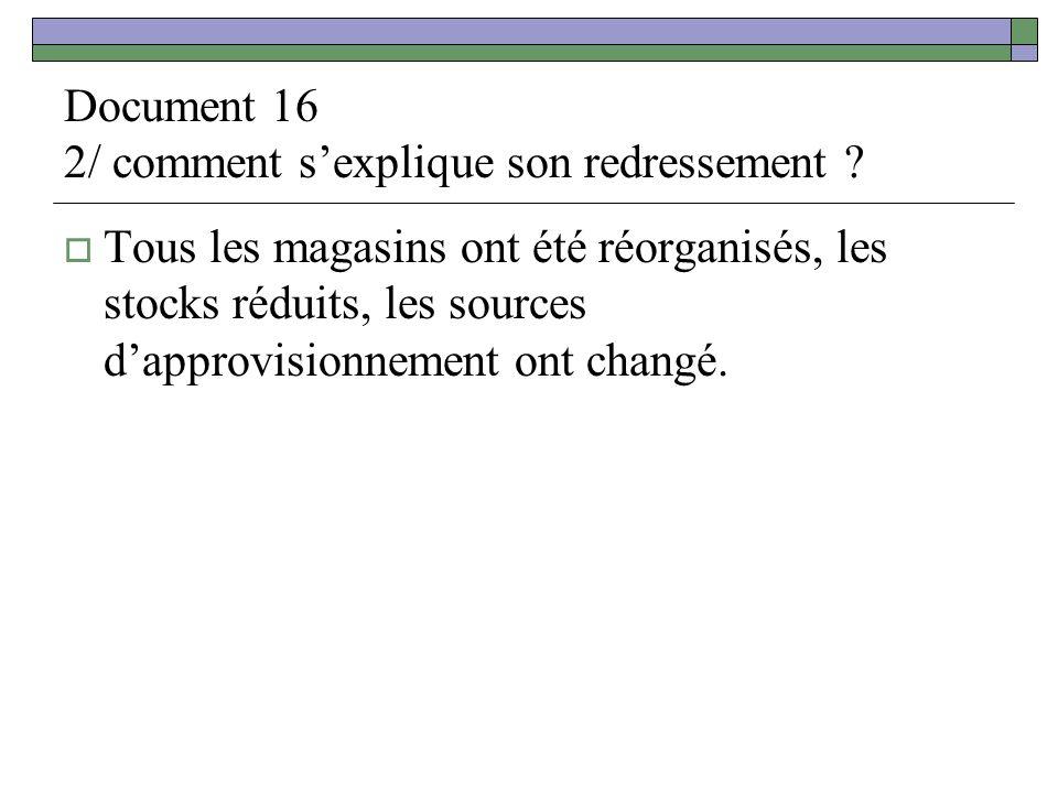 Document 16 2/ comment sexplique son redressement .