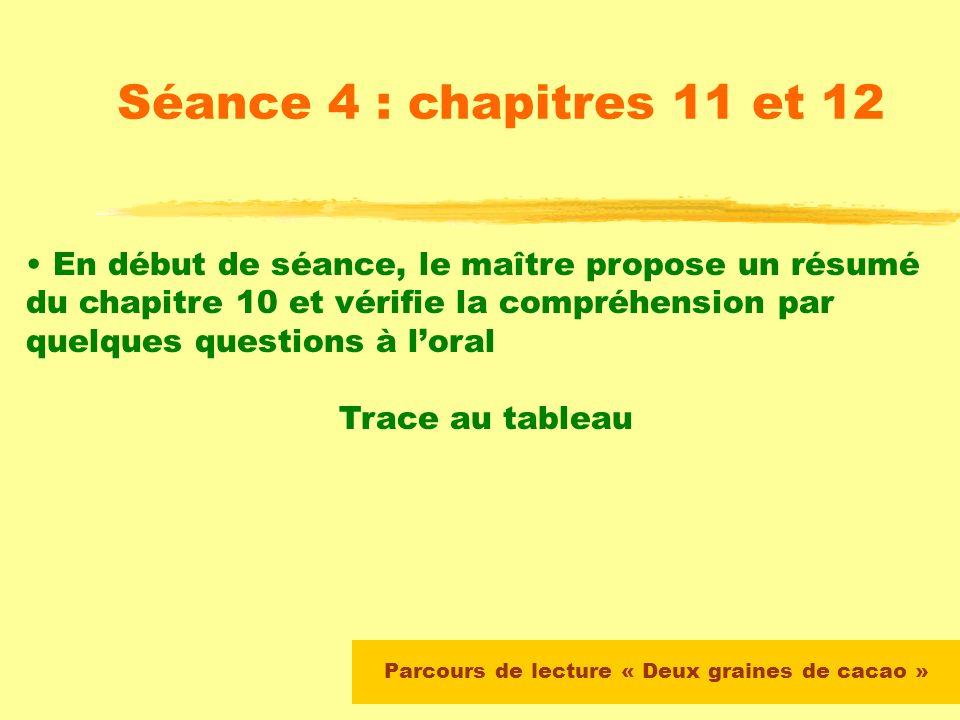 Séance 3 : chapitre 9 Lecture par le maître des pages 119 à 122 Relecture silencieuse du passage et production écrite : quel sera le choix de Gabriel