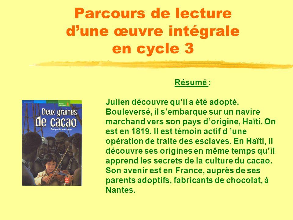 Parcours de lecture dune œuvre intégrale en cycle 3 Editions Hachette Livre de poche / Jeunesse 281 pages ISBN : 2.01.321928.8
