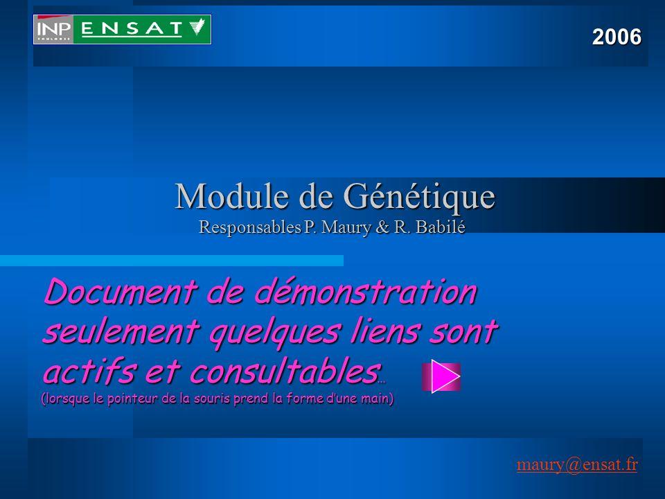 maury@ensat.fr 1 Document de démonstration seulement quelques liens sont actifs et consultables … (lorsque le pointeur de la souris prend la forme dun