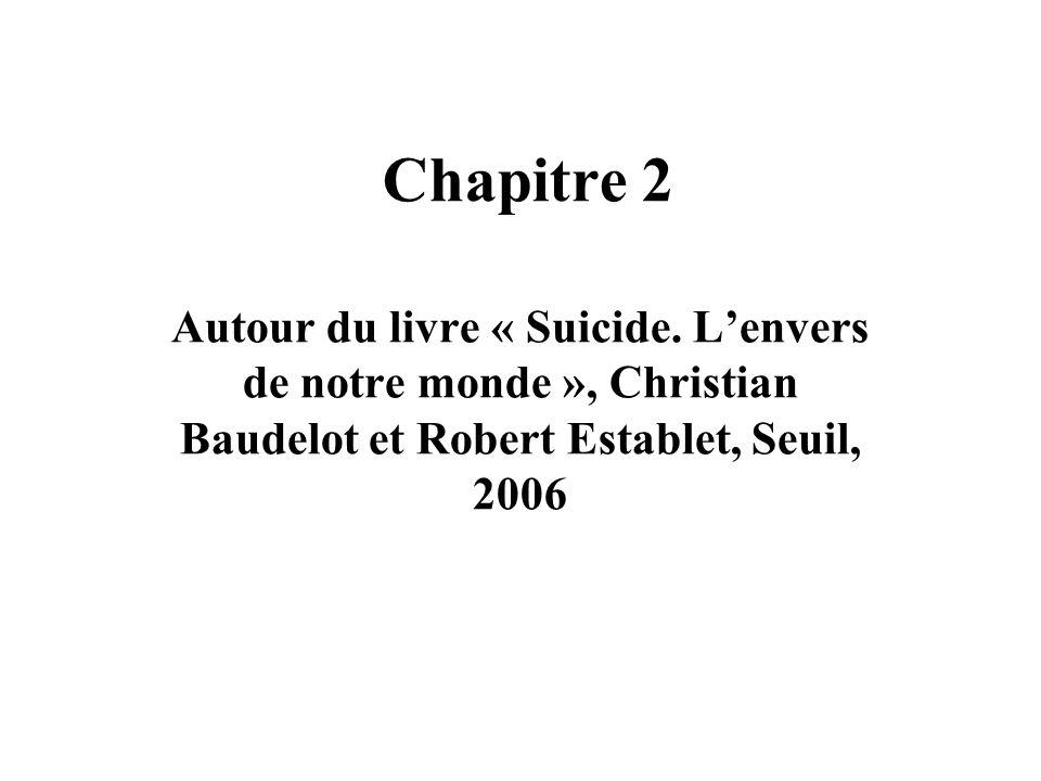 Chapitre 2 Autour du livre « Suicide.