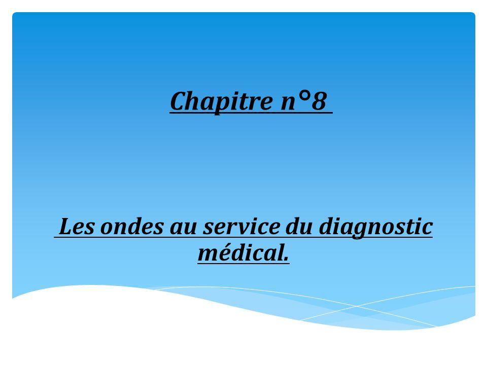 Chapitre n°8 Les ondes au service du diagnostic médical.