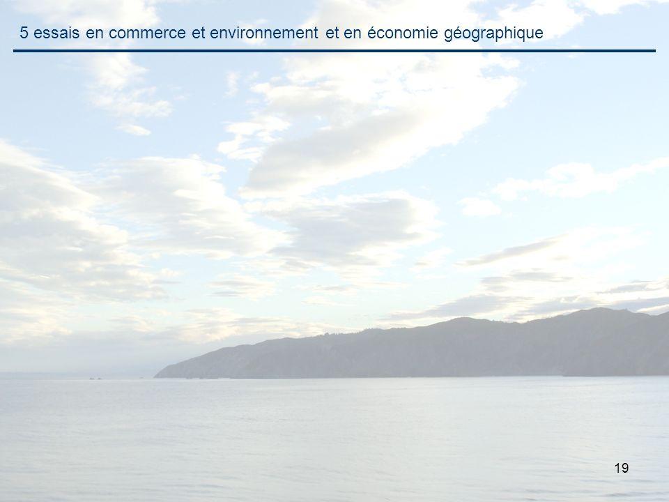 19 5 essais en commerce et environnement et en économie géographique