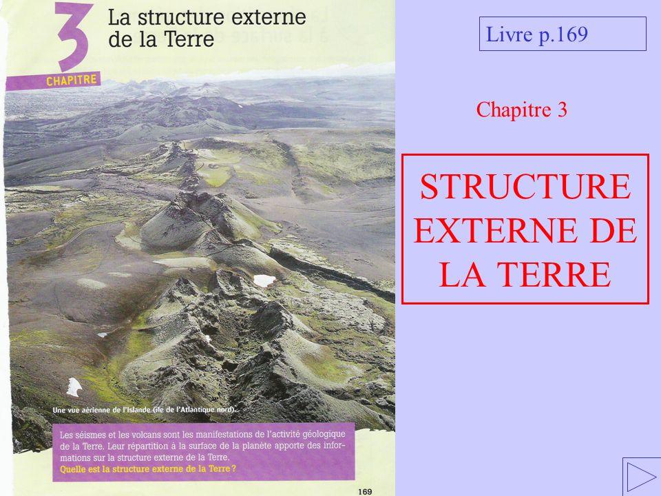 STRUCTURE EXTERNE DE LA TERRE Chapitre 3 Livre p.169