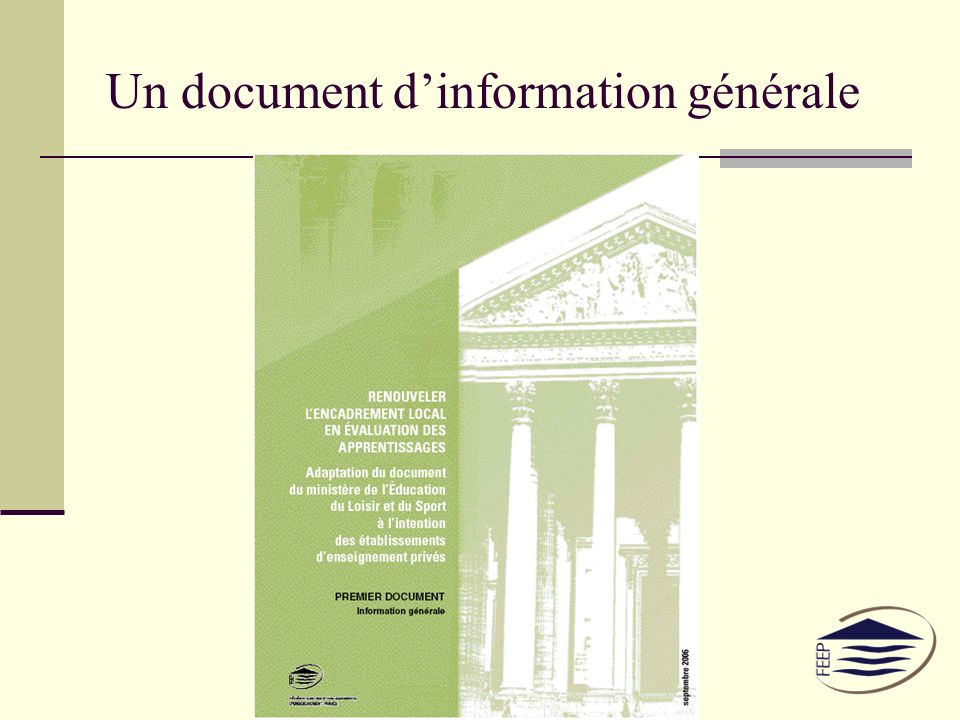 Un document dinformation générale