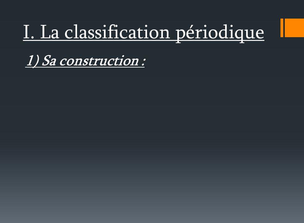 2) Les halogènes : Ce sont les éléments de l avant dernière colonne de la classification.