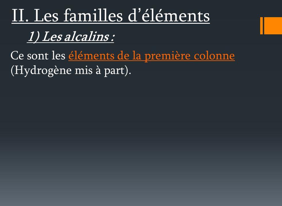 2 ème ligne : Lithium Li - Berylium Be - Bore B - Carbone C - Azote N - Oxygène O - Fluor F - Néon Ne Lili Becha Beaucoup Chez Notre Oncle Ferdinand N
